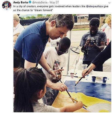 Tweet post - May 27, 2018 Mayor Andy Ber