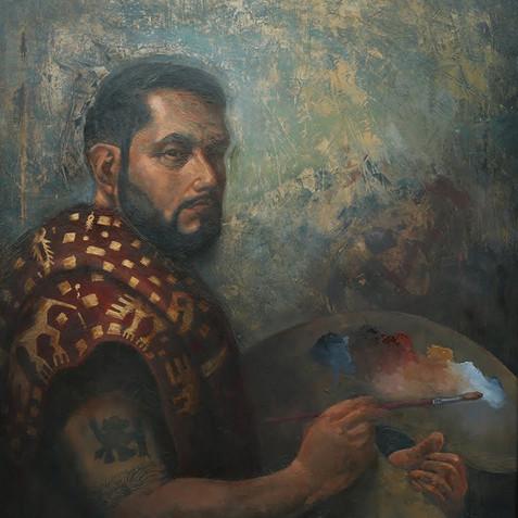 Self-Portrait in Academicism and Cuzco School Styles