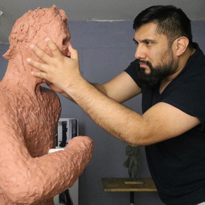Sculpting Thaddeus Stevens