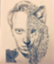 Sel portrait with the wolf.jpg