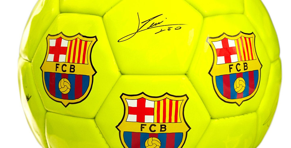 FCB Signed Ball (yellow)