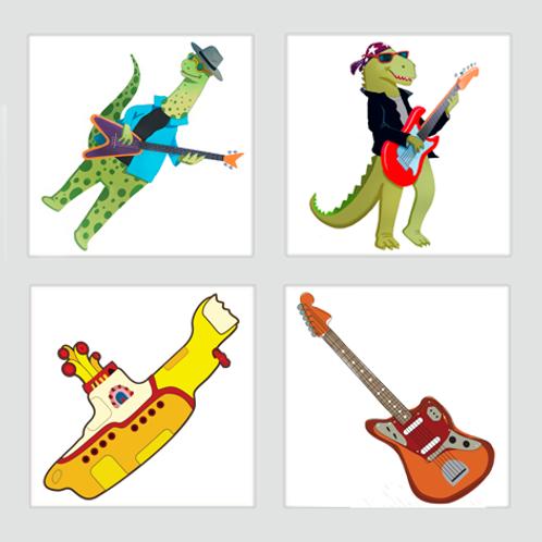 Kit Dinos Rock Pop