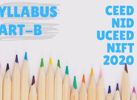 Syllabus for Drawing/Sketching-NID/CEED/UCEED Part-B?