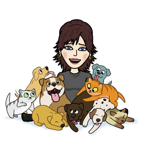 Dog Walk Cartoon Natalie with lots of do