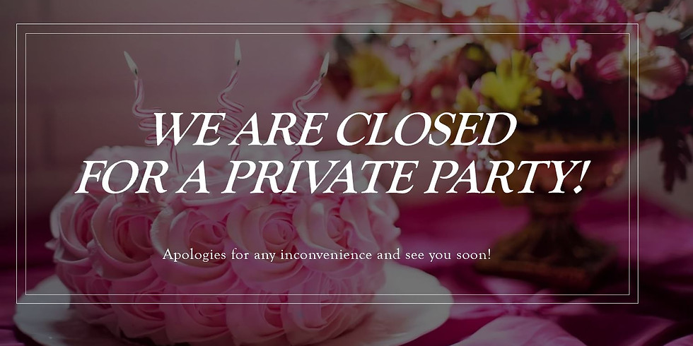 Private Party - Academicus is Closed!