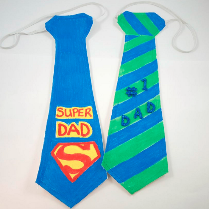 Guided Craft - Fathers Day Ties