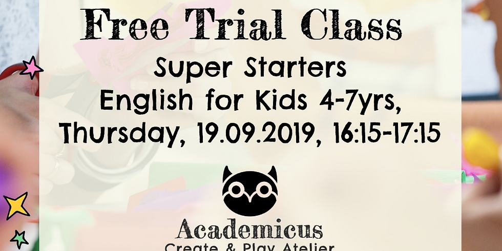 Free English Trial Class in Zurich - Kids 4-7yrs