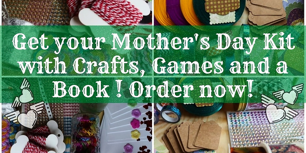 Mother's Day Package: Book, Games, Craft