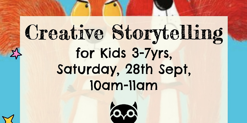 Zürich - Creative storytelling for kids 3-7yrs - The Squirrels who Squabbled