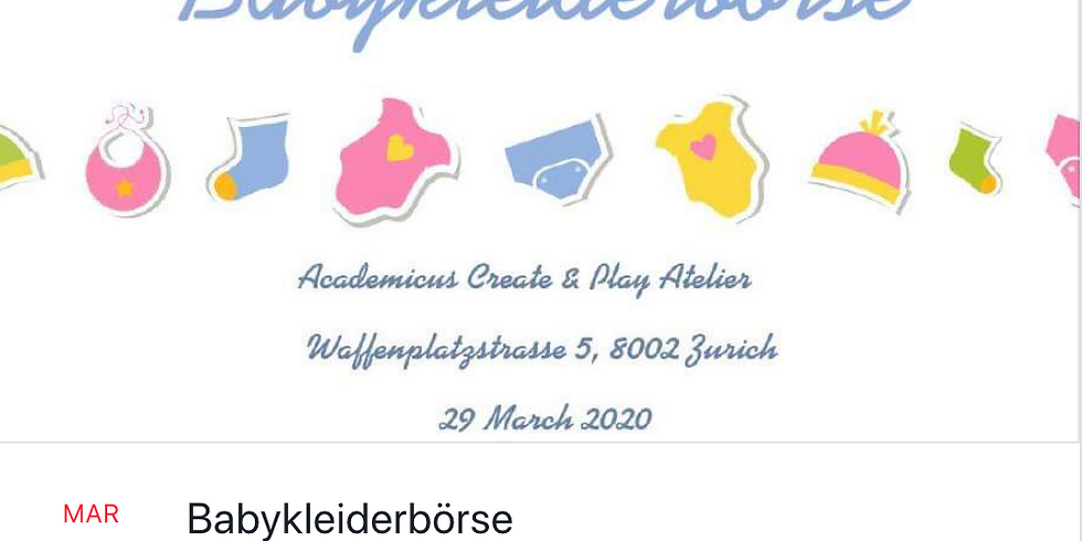 Kinderbörse - Kids Market with clothes and accessories for babies 0-12m!