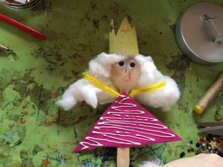 Sleeping Beauty and the Wooden Spoon Princess Puppet Craft
