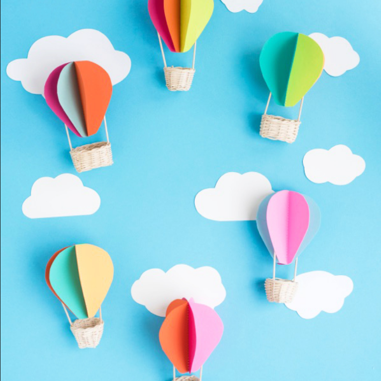 Guided Craft - 3D Hot Air Balloons