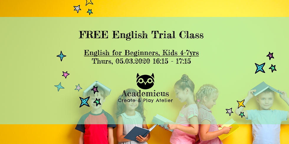 FREE English for Beginners Trial Class 4-7yrs