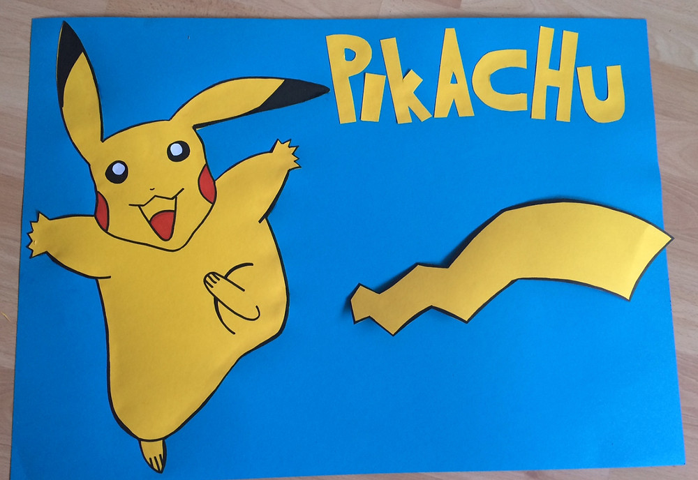 Pin the Tail on Pikachu - party game