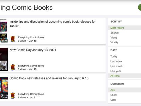Comics for comic addicts