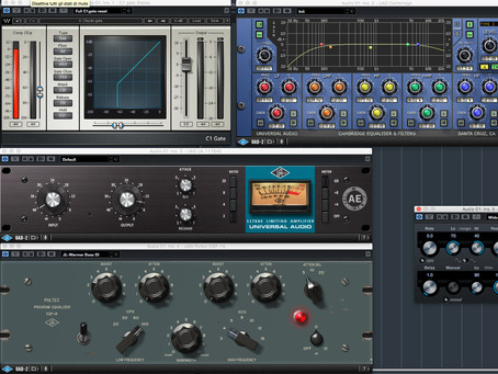 Le catene audio in mix. Gate, Compressore, EQ ed Effetti.