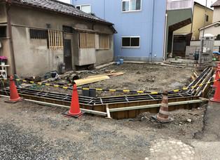 豊中 新築工事の側溝工事。。。