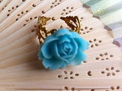 Blue Rose Ring Detail