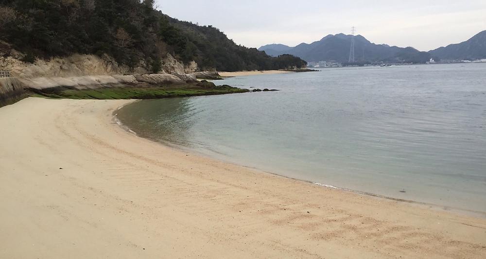 A beach in Hiroshima prefecture