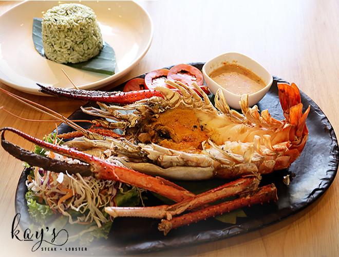 red lobster steak and lobster KL