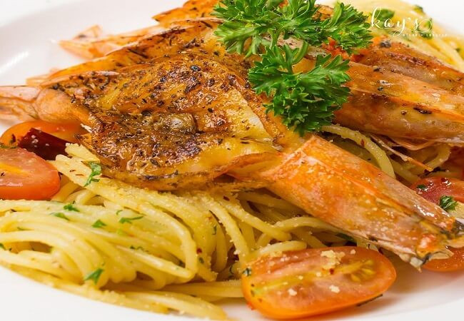 Kay's Steak and Lobster pasta