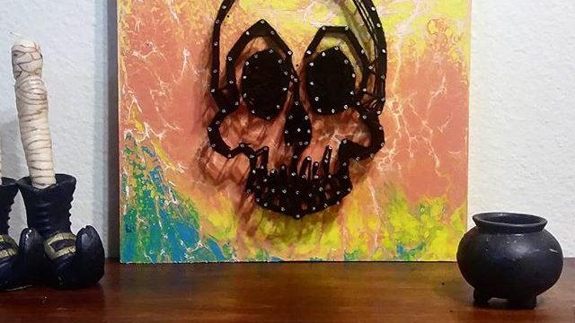 Skull String art by eileenaart