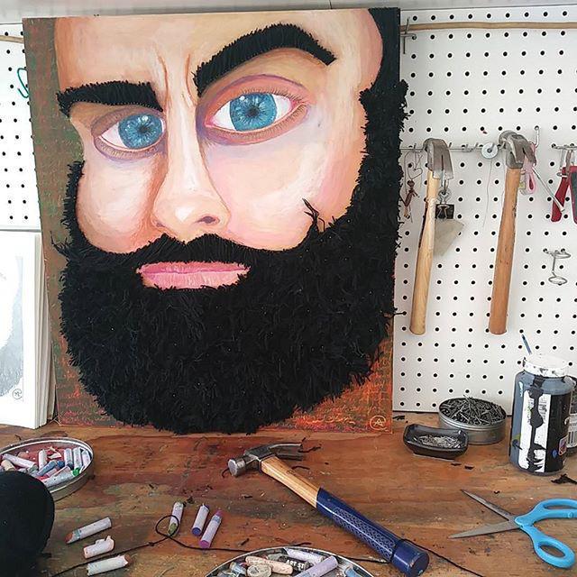 Respect the beard by Eileen A. / www.ea-art.com