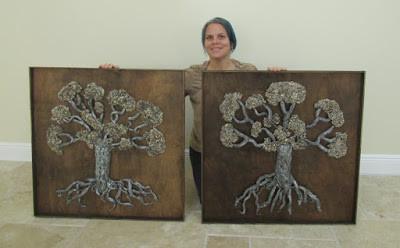 Love locks tree  Tree of life bi dimensional sculpture by eileenAartove locks tree  by eileenaart