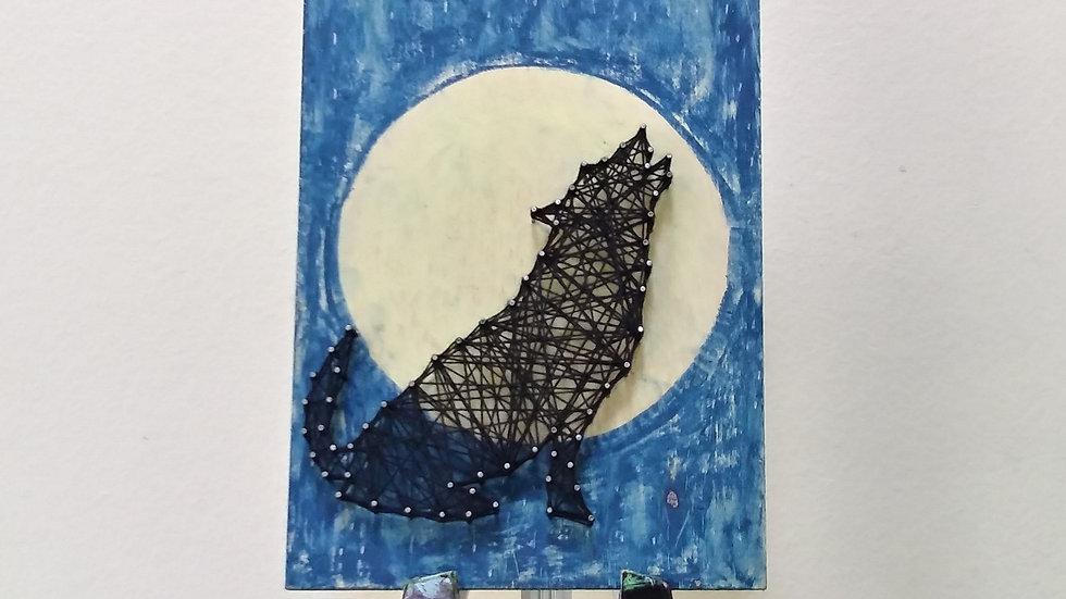 """Wolf  string art 9""""  by eileenaart"""