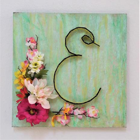 Not your grandmas string art -Monogram-