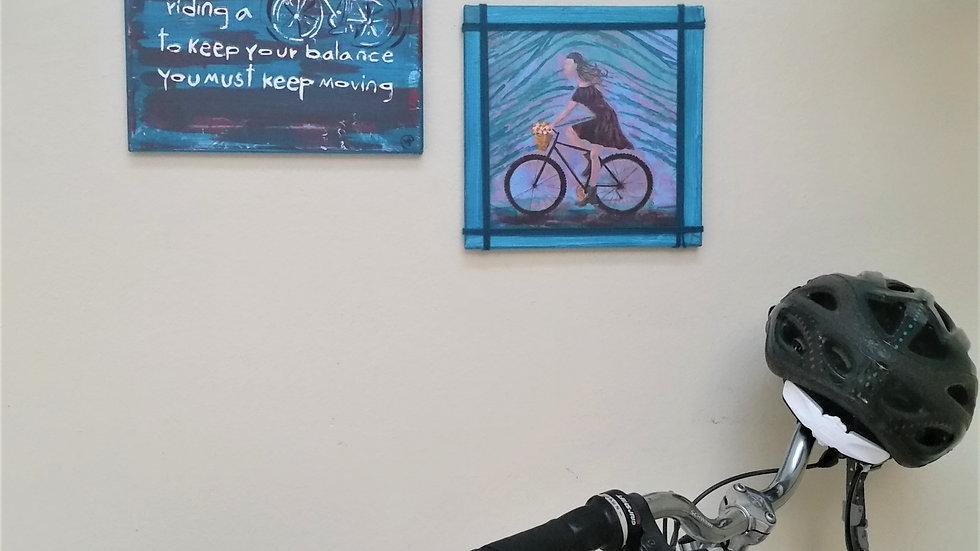 Bike Art  Collage  by eileenaart