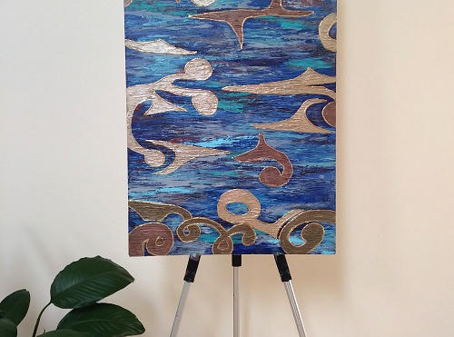 Blue and Gold (Sold)