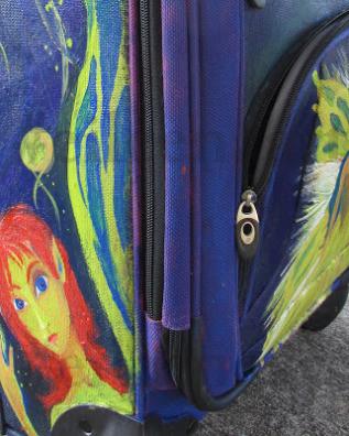 eileenaart custom painting on carry on bag