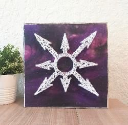 chaos star purple  eileenaart string art