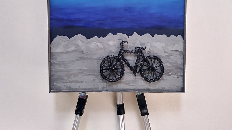 """Bicycle art and quote 20"""" X 18"""" by eileenaart"""