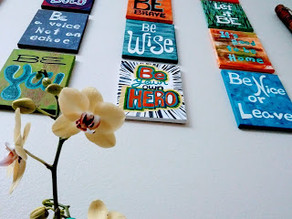 Hanging small artwork the easy way