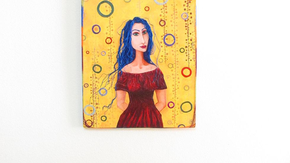 LEONELLE -original painting -eileenaart