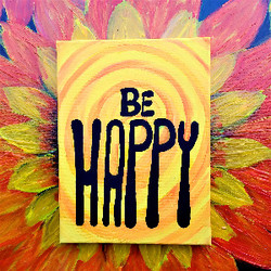 be happy quote sunflower