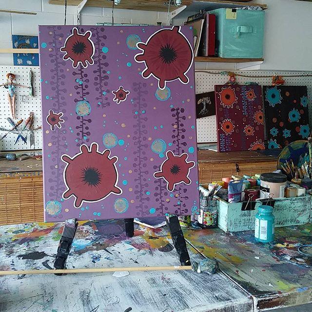 Bohemian cell series -Violets by eileenaart