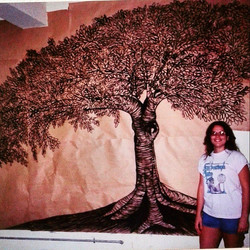 mural on paper