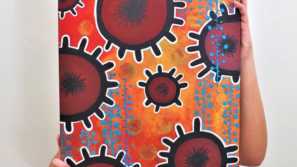 Bohemian cells -original painting -eileenaart