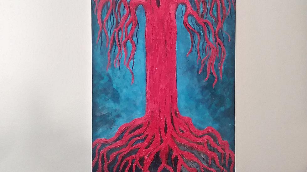 "Tree art ""The red tree"" by eileenaart"