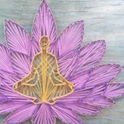 Lotus flower meditation Wall Art by eileenaart 1 1