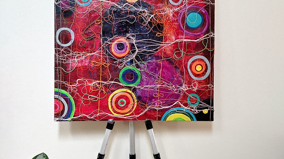 """BURST"" Restless Mind Series abstract by Eileen A. art"