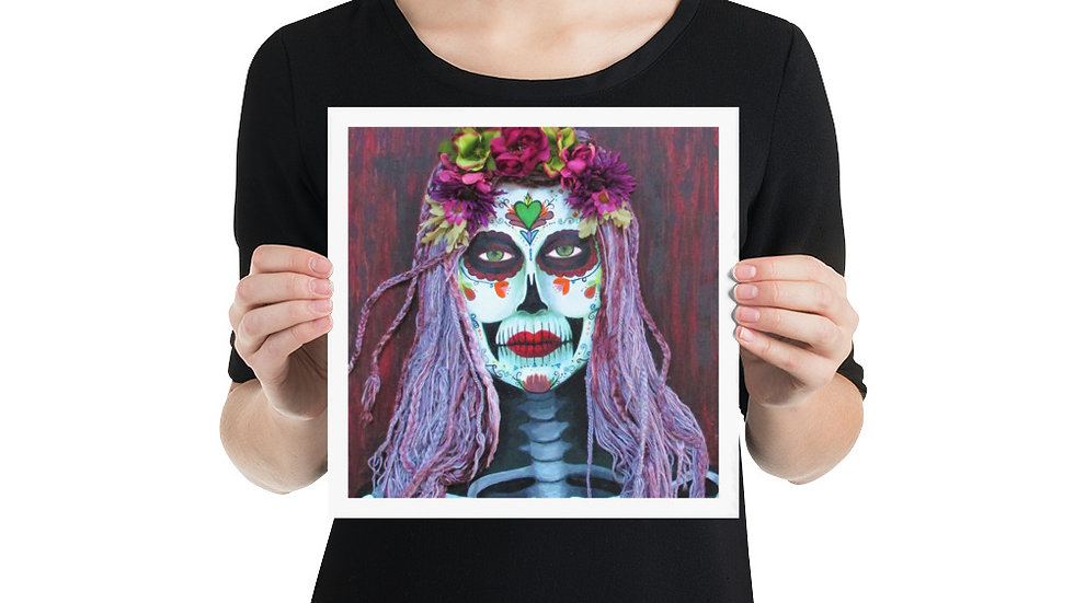 Photo paper poster -Samhain Parade Catrina- Eileen A Art