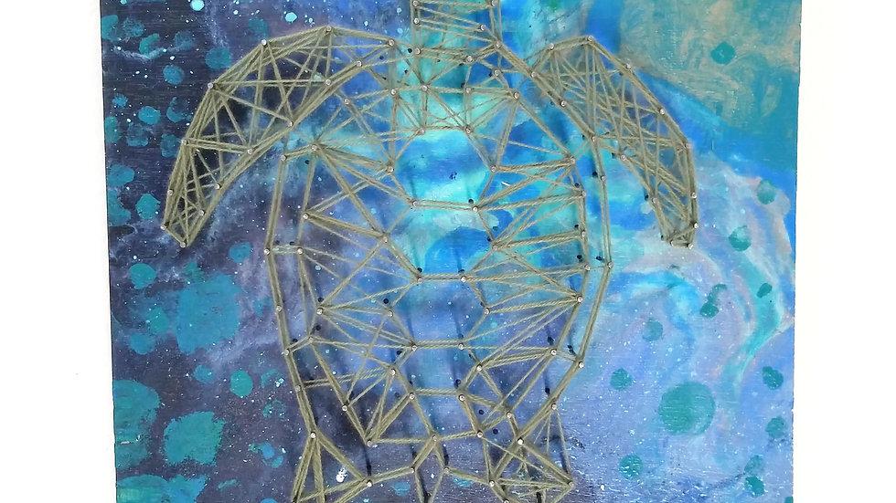 Turtle  string art  by eileenaart