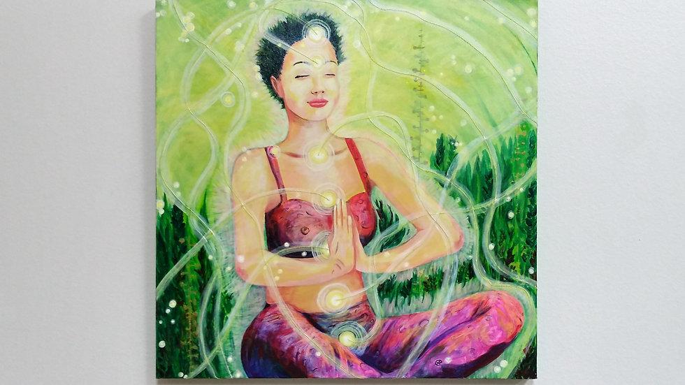 """Beings of light series """"WITHIN"""" -original painting -eileenaart"""