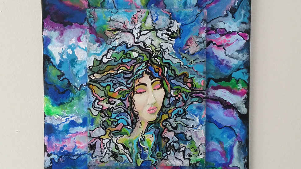 """One with the universe """"Dream"""" original painting -eileenaart"""