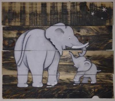 Eléphant et son bébé