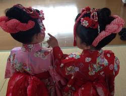 双子ちゃんの三歳お祝い